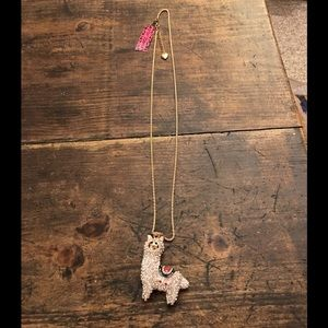 Betsey Johnson Jewelry - Betsey Johnson Llama bling long necklace crystals